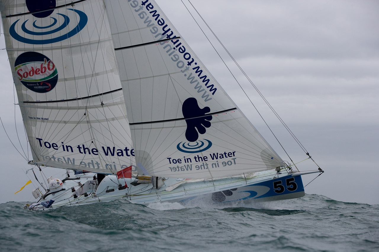 Steve White Vendee Globe Start