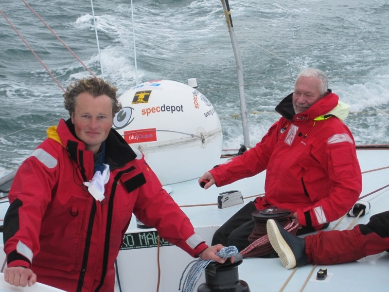 Steve White with Robin Knox Johnston